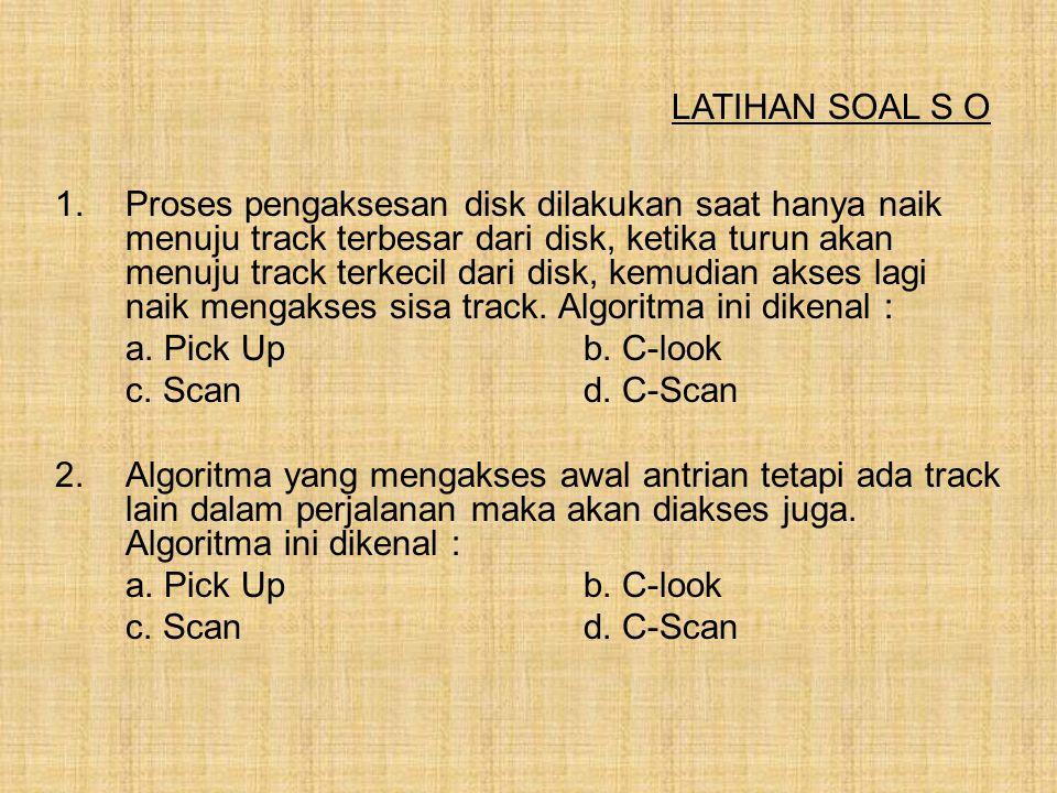 LATIHAN SOAL S O
