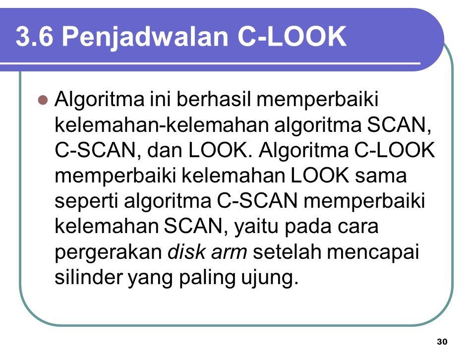 3.6 Penjadwalan C-LOOK