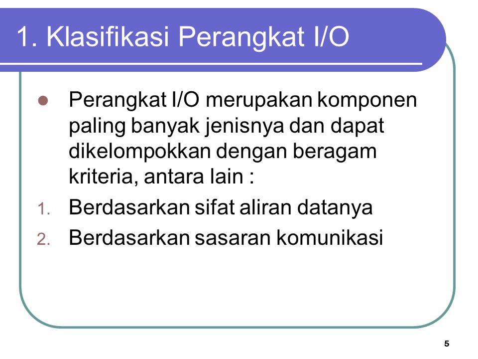 1. Klasifikasi Perangkat I/O