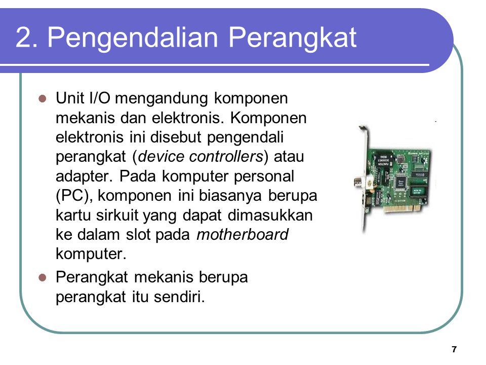 2. Pengendalian Perangkat