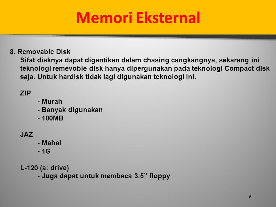 Memori Eksternal 3. Removable Disk