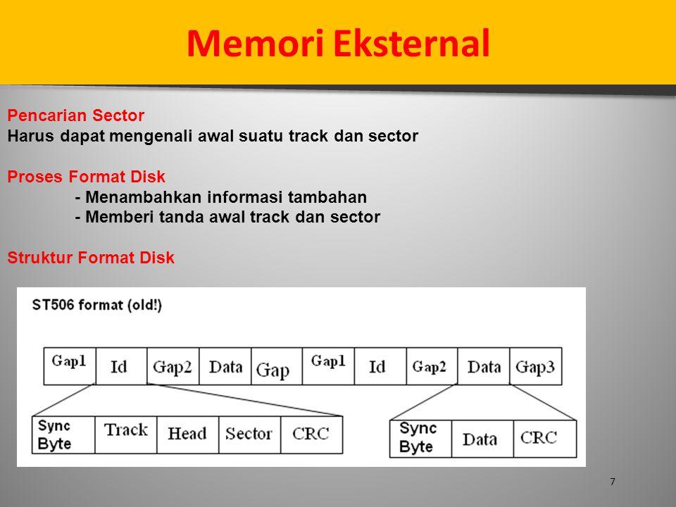 Memori Eksternal Pencarian Sector