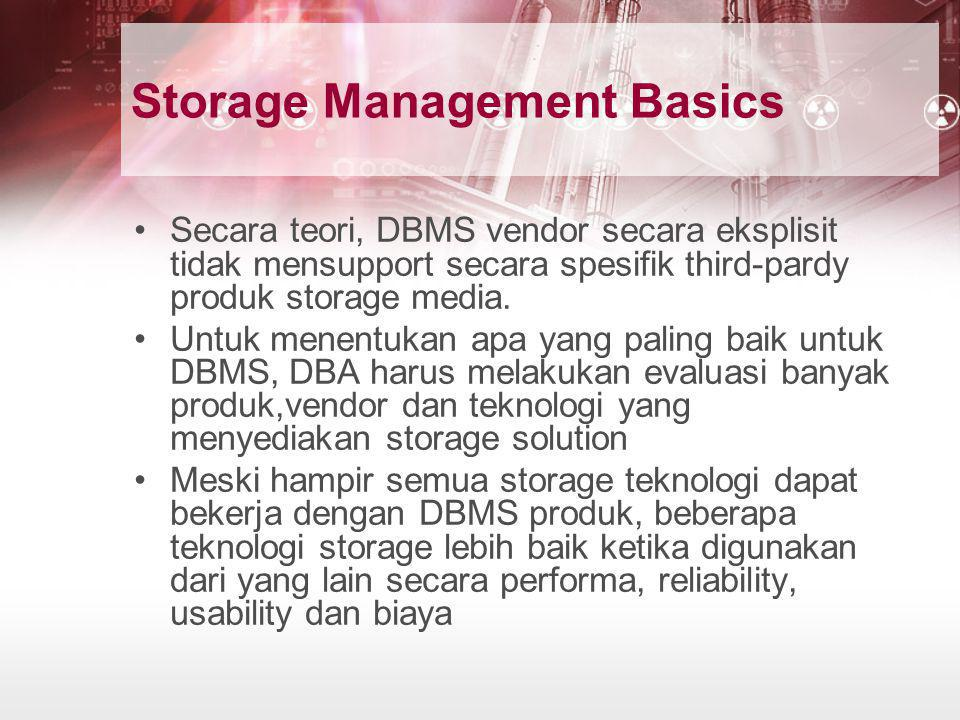 Storage Management Basics