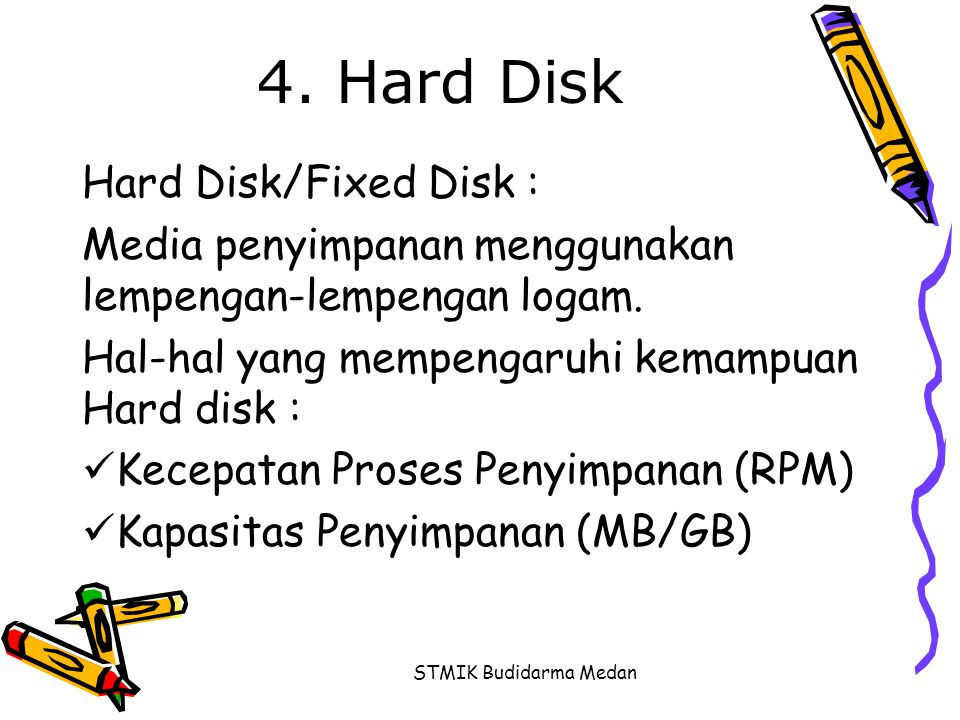 4. Hard Disk Hard Disk/Fixed Disk :