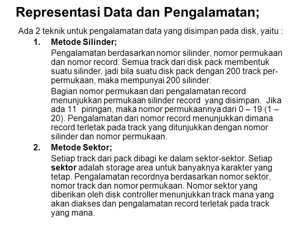 Representasi Data dan Pengalamatan;