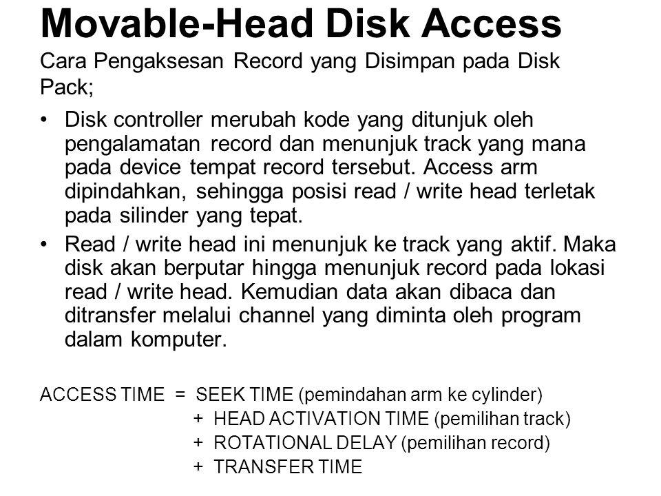 Movable-Head Disk Access Cara Pengaksesan Record yang Disimpan pada Disk Pack;