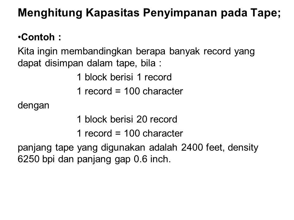 Menghitung Kapasitas Penyimpanan pada Tape;