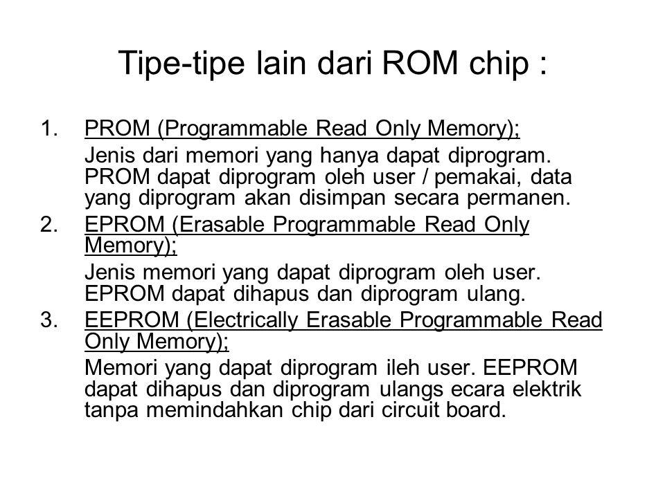 Tipe-tipe lain dari ROM chip :