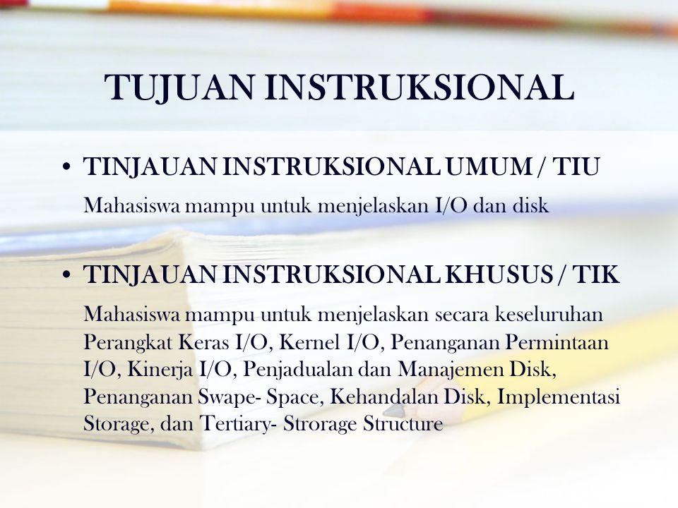 TUJUAN INSTRUKSIONAL TINJAUAN INSTRUKSIONAL UMUM / TIU