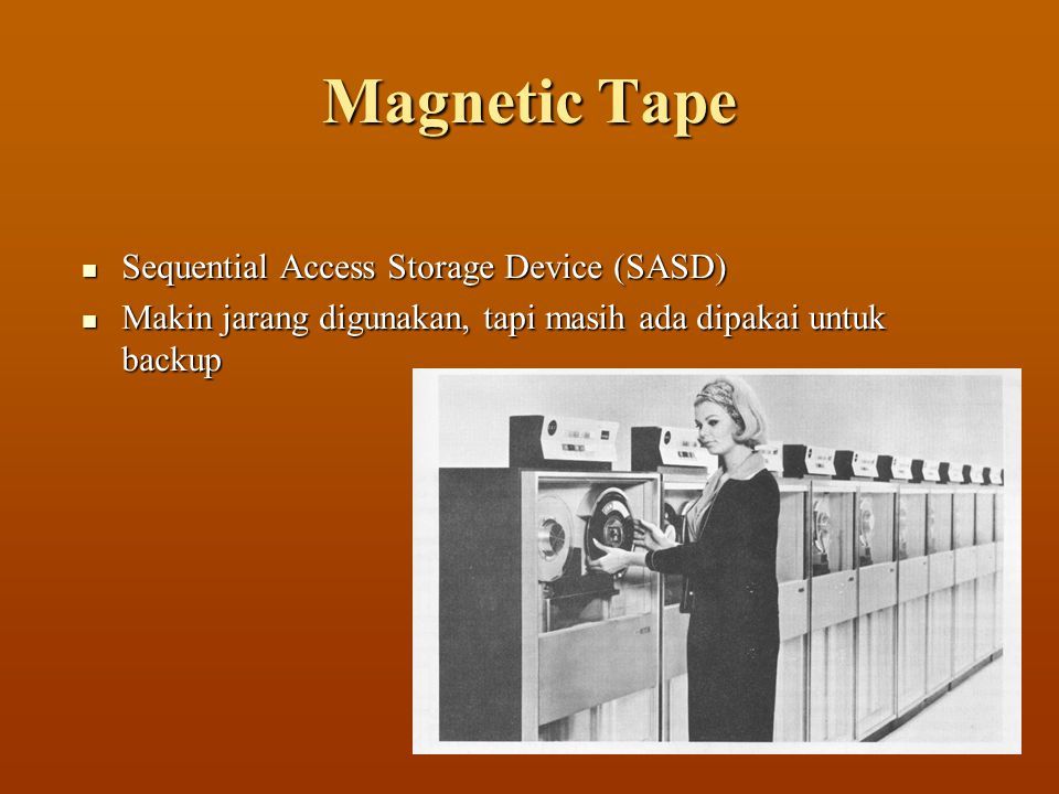 Magnetic Tape Sequential Access Storage Device (SASD)