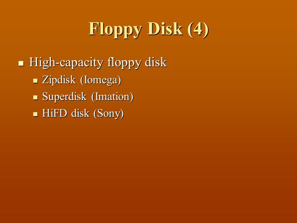 Floppy Disk (4) High-capacity floppy disk Zipdisk (Iomega)