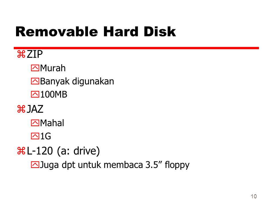 Removable Hard Disk ZIP JAZ L-120 (a: drive) Murah Banyak digunakan