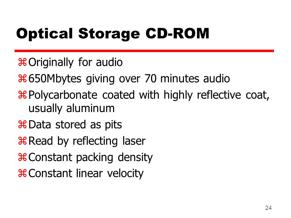 Optical Storage CD-ROM