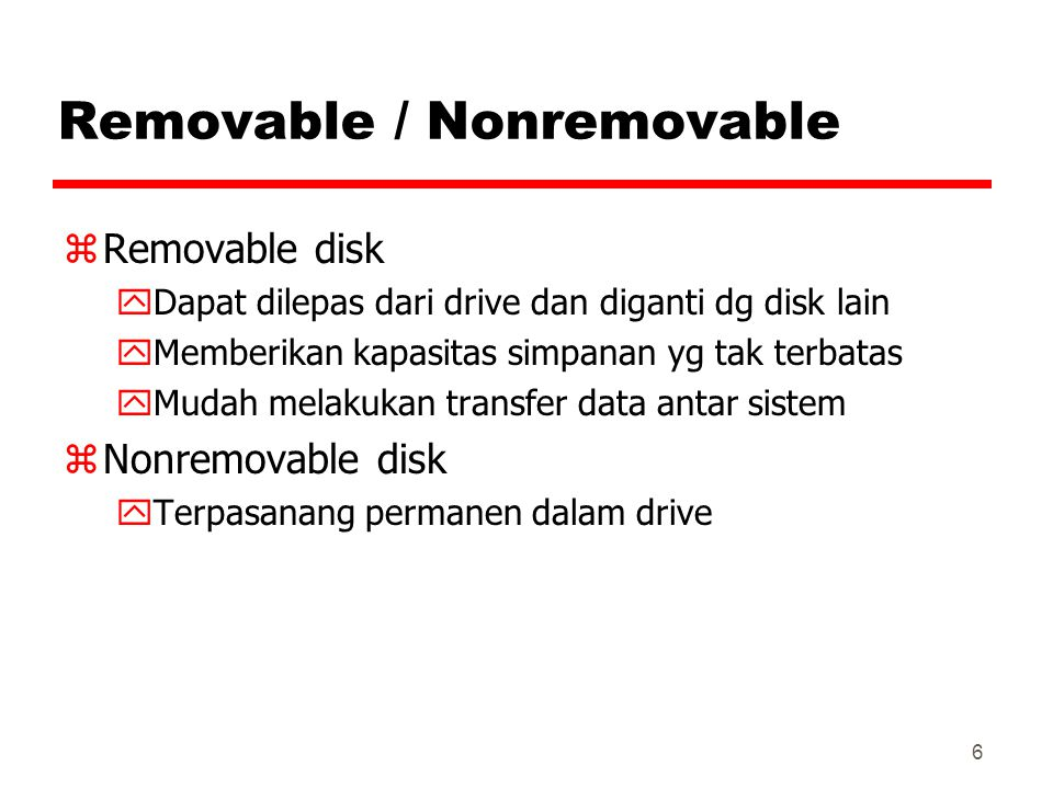 Removable / Nonremovable