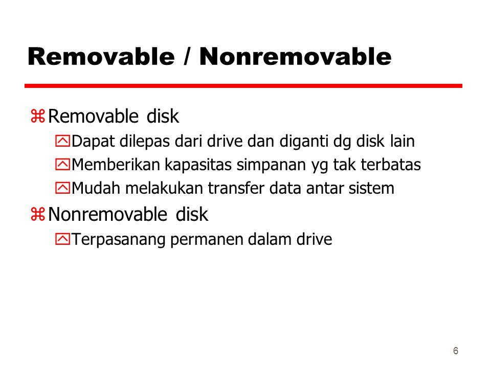 Removable / Nonremovable