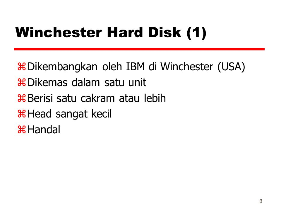 Winchester Hard Disk (1)