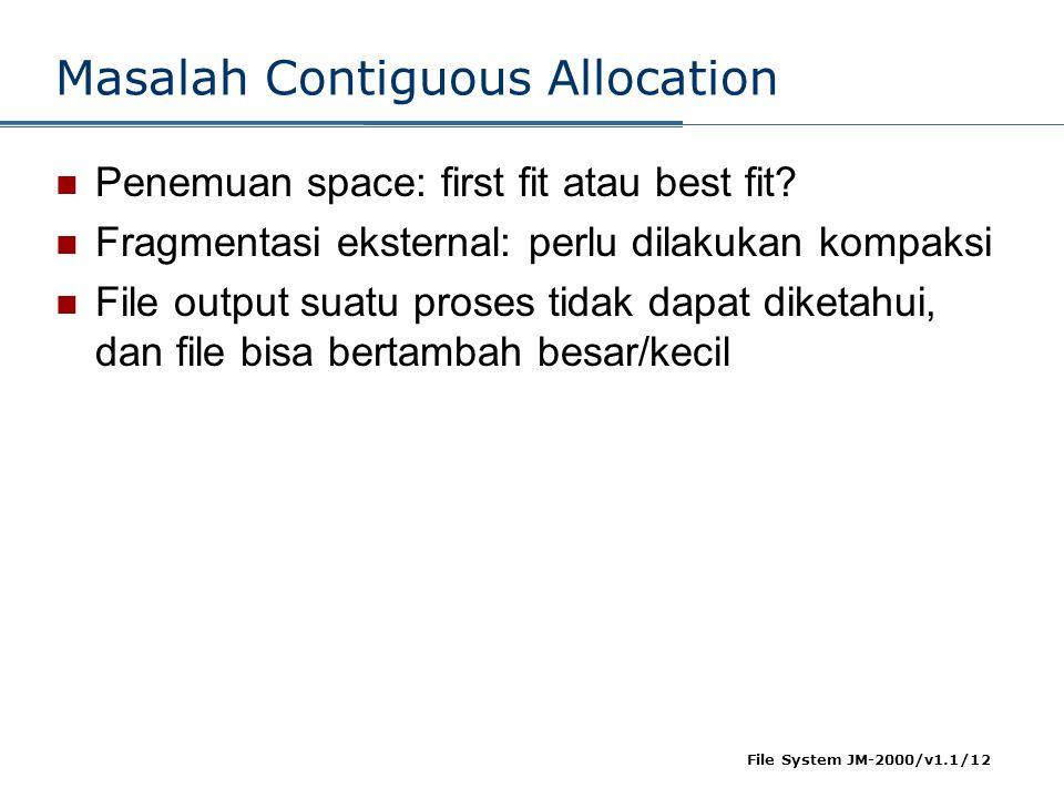 Masalah Contiguous Allocation