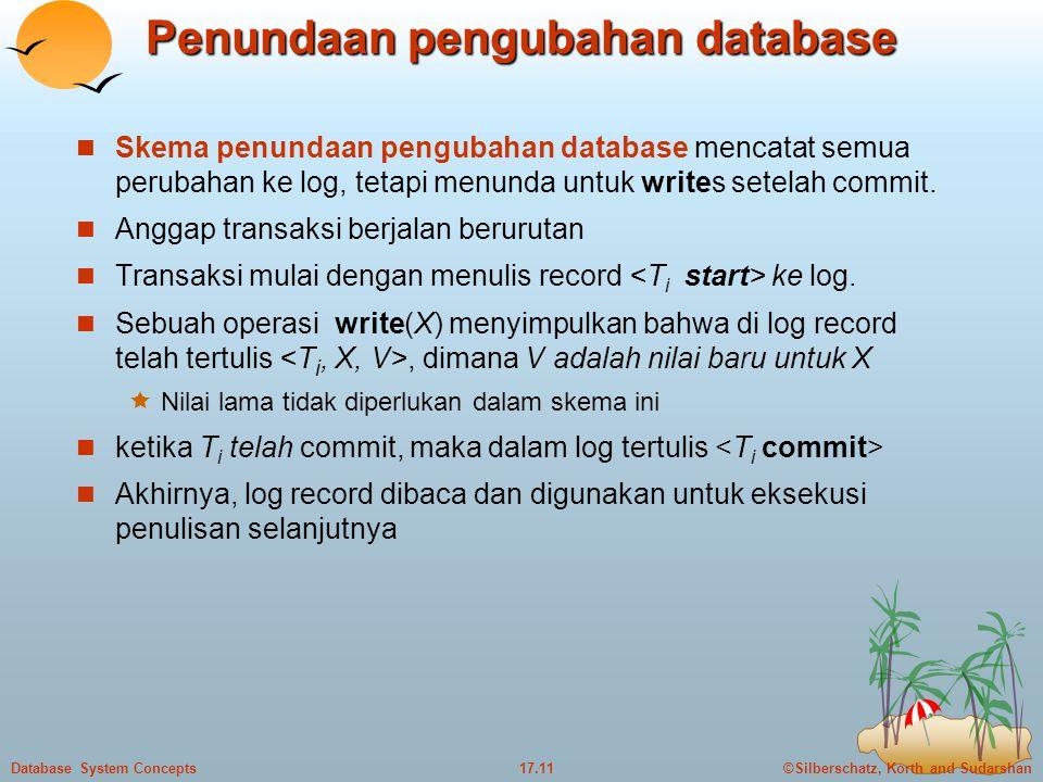 Penundaan pengubahan database