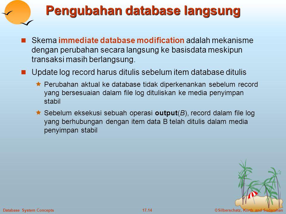 Pengubahan database langsung
