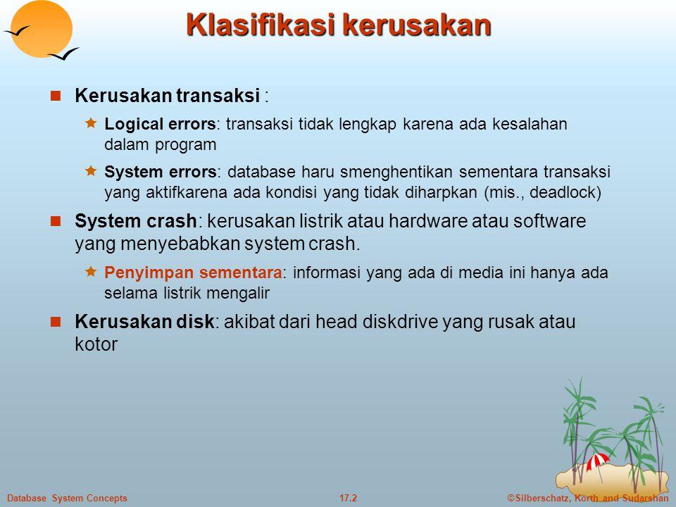 Klasifikasi kerusakan
