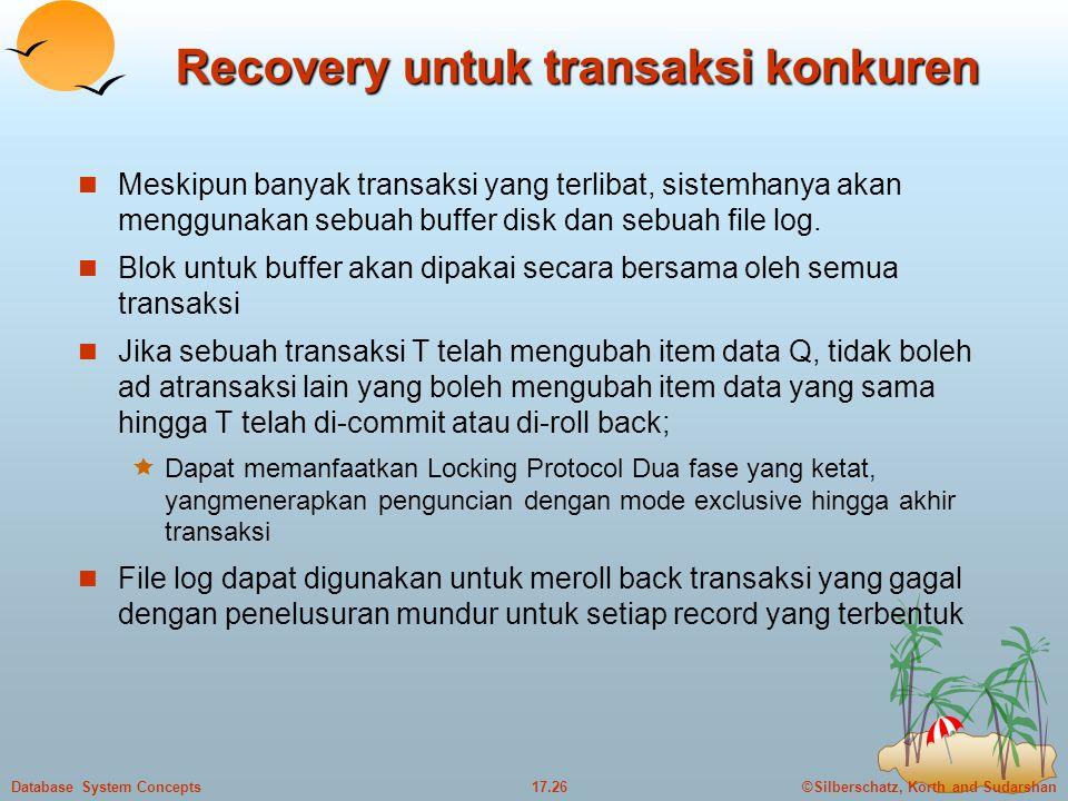 Recovery untuk transaksi konkuren