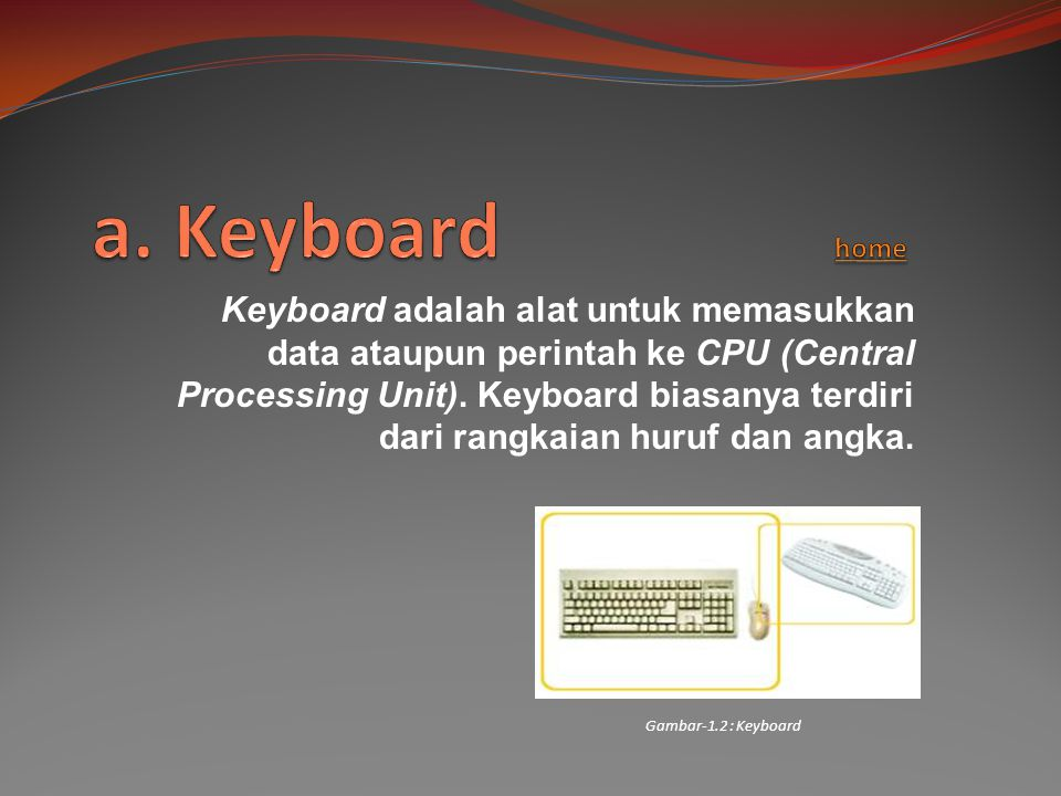a. Keyboard home