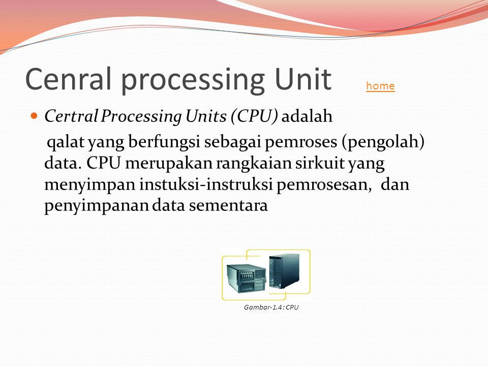 Cenral processing Unit home