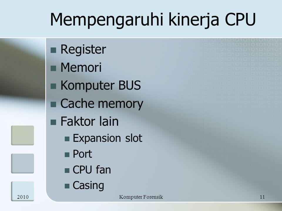 Mempengaruhi kinerja CPU