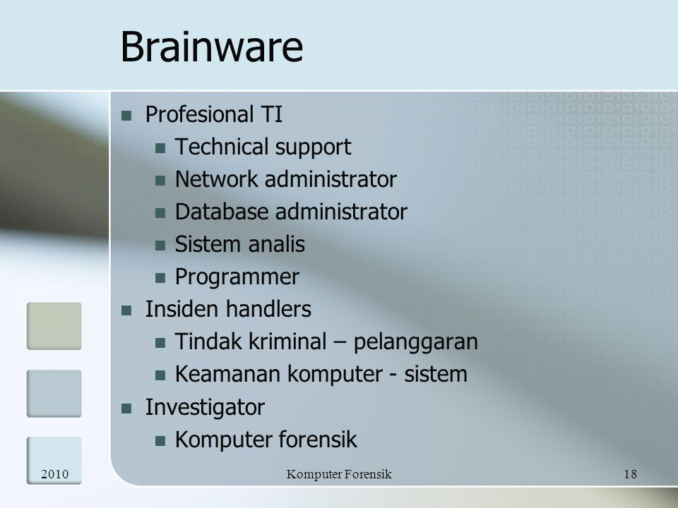 Brainware Profesional TI Technical support Network administrator
