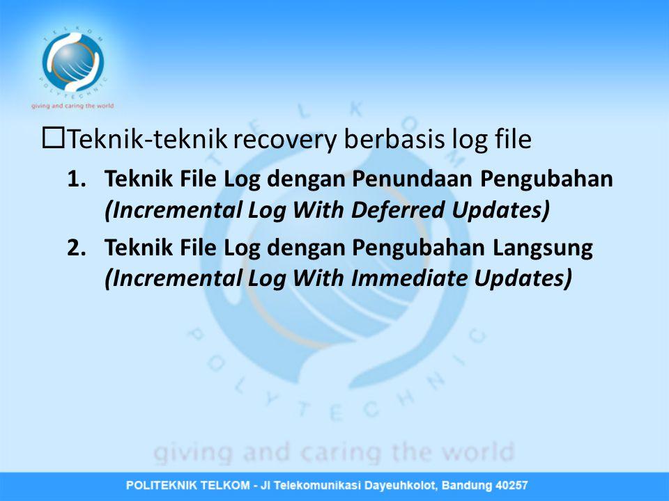 Teknik-teknik recovery berbasis log file
