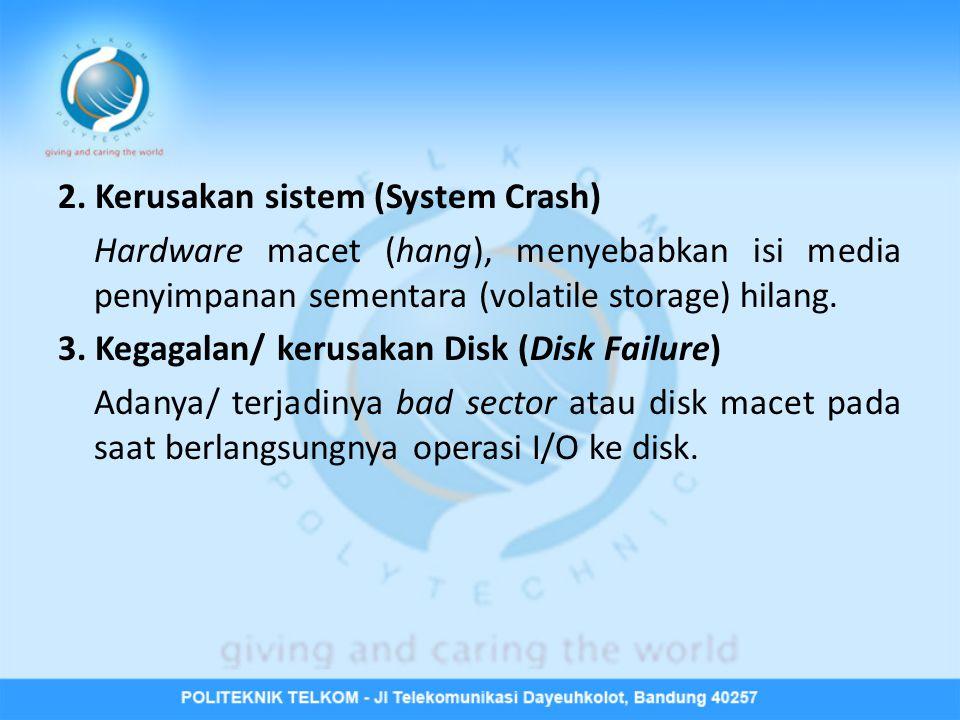 2. Kerusakan sistem (System Crash)