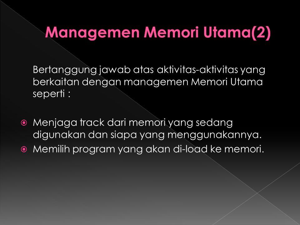 Managemen Memori Utama(2)