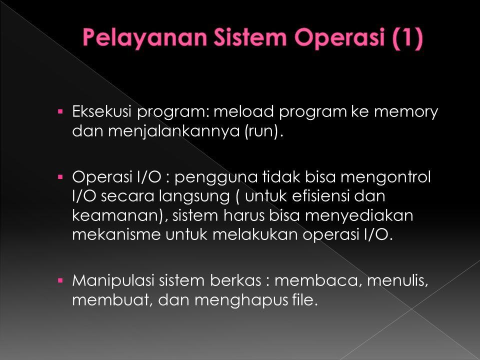 Pelayanan Sistem Operasi (1)