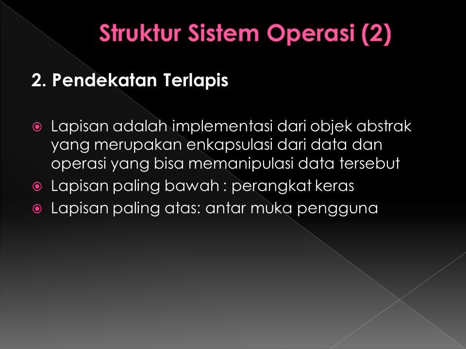 Struktur Sistem Operasi (2)