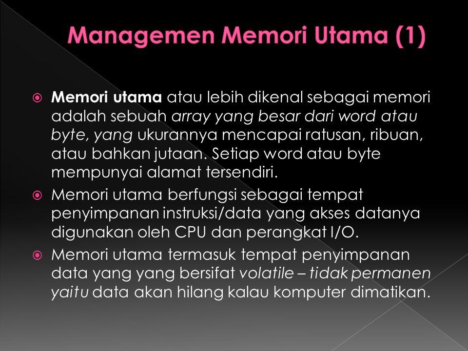 Managemen Memori Utama (1)