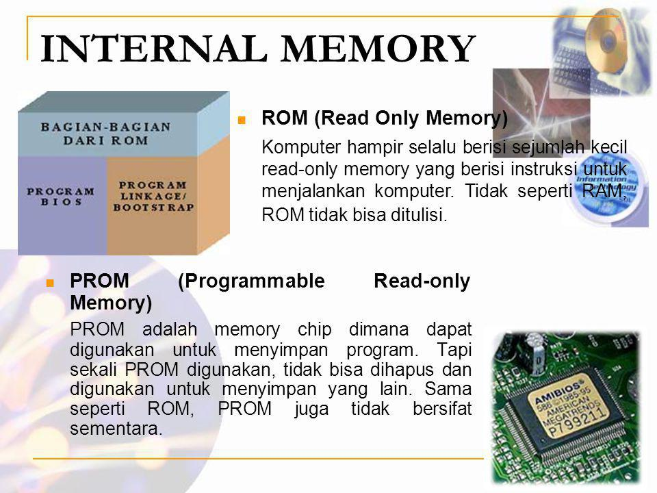 INTERNAL MEMORY ROM (Read Only Memory)