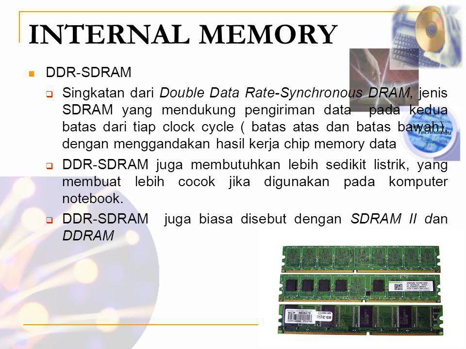 INTERNAL MEMORY DDR-SDRAM