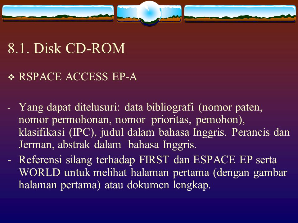 8.1. Disk CD-ROM RSPACE ACCESS EP-A