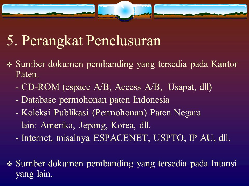 5. Perangkat Penelusuran