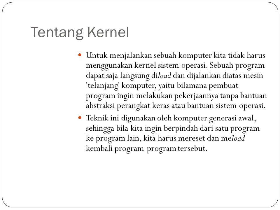 Tentang Kernel