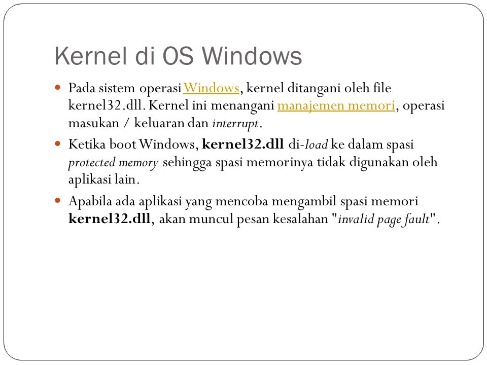 Kernel di OS Windows