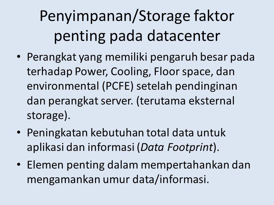 Penyimpanan/Storage faktor penting pada datacenter