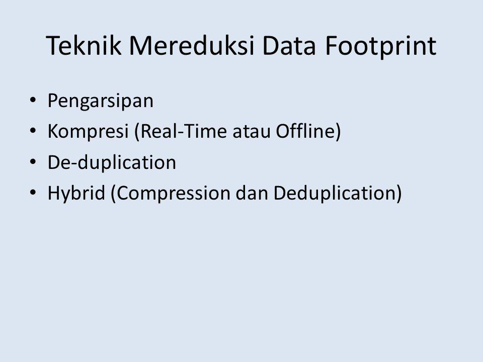 Teknik Mereduksi Data Footprint