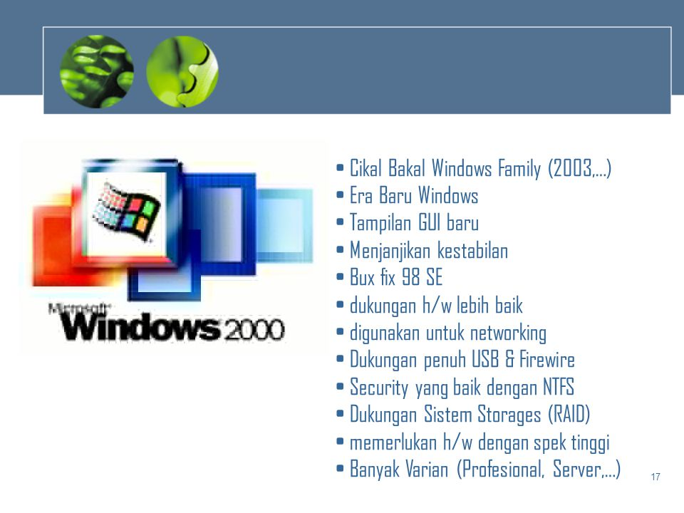 Cikal Bakal Windows Family (2003,…)
