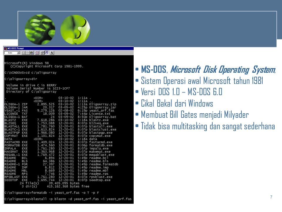 MS-DOS, Microsoft Disk Operating System,