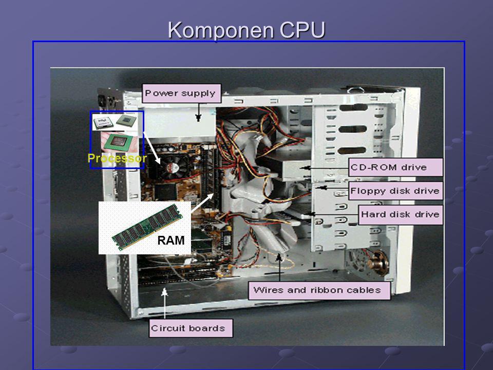 Komponen CPU Processor RAM