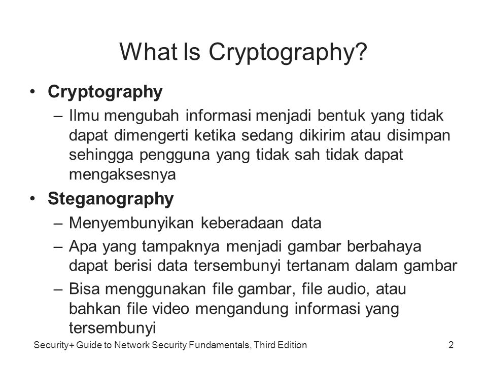 What Is Cryptography Cryptography Steganography