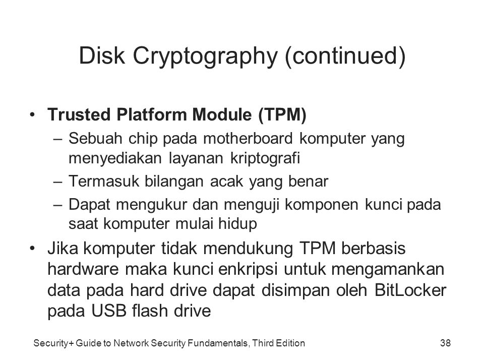 Disk Cryptography (continued)