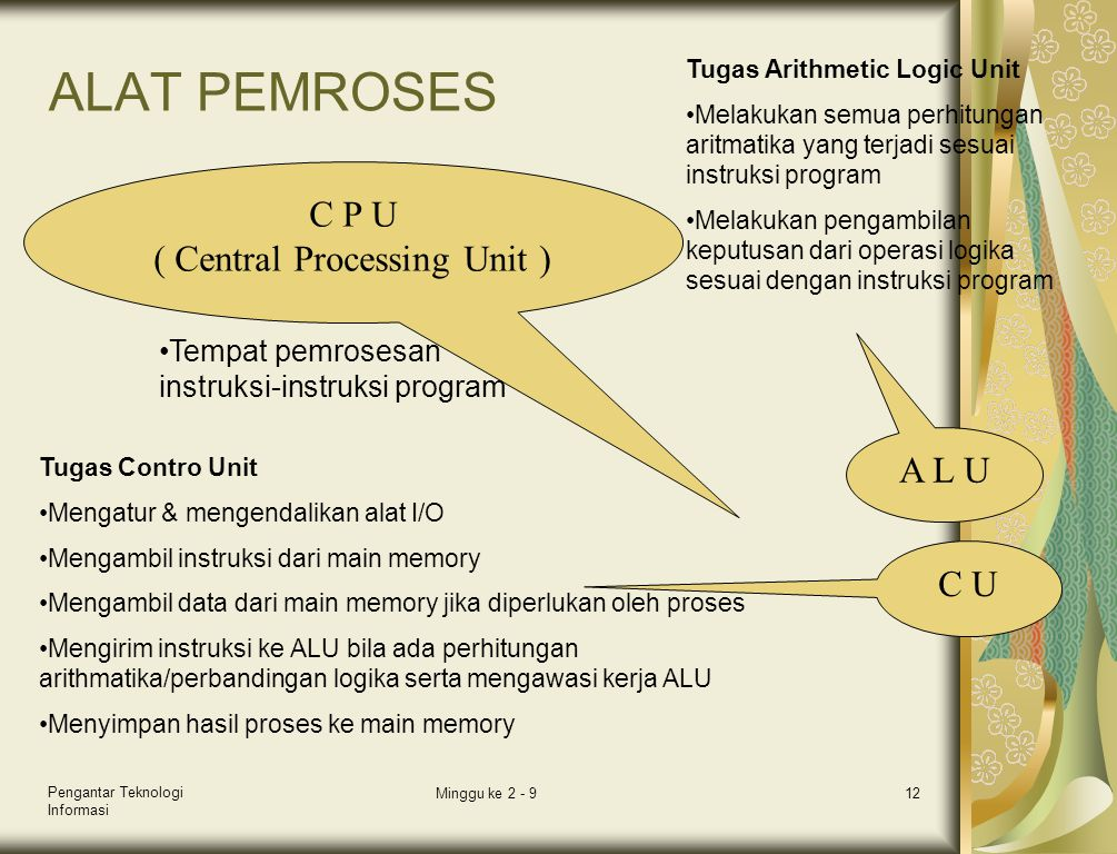 ( Central Processing Unit )