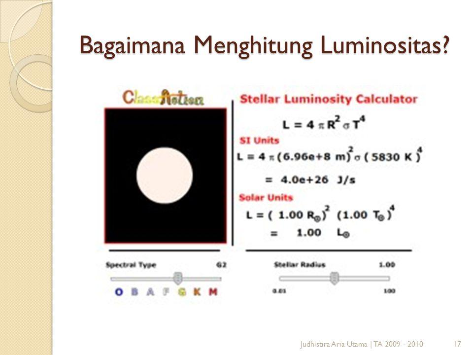 Bagaimana Menghitung Luminositas